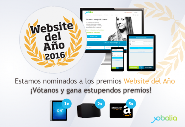YOBALIA, NOMINADA AL PREMIO MEJOR WEBSITE 2016